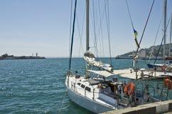 Yachts, Yalta Image libre de droits