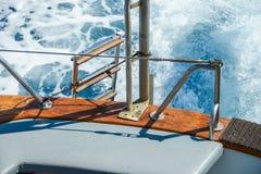 Yachtsegel auf dem Meer Lizenzfreies Stockfoto