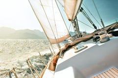 Yachtsegeln Stockfotos