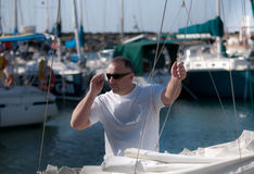 Yachtsman . Royalty Free Stock Image