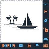 Yachtsymbolsl?genhet stock illustrationer