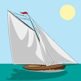Yachtvektor Arkivbilder