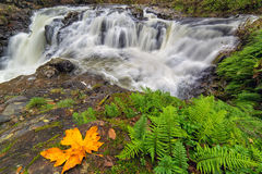 Yacolt Falls in Autumn Stock Photo