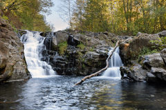 Yacolt Falls in Autumn Royalty Free Stock Photography