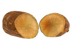 Yacon fresco (mela a terra peruviana) Fotografie Stock