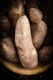 Yacon roots. On a bowl with dark background Royalty Free Stock Image