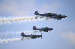 Yacs acrobáticos Italia del equipo Fotografía de archivo libre de regalías