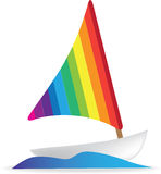 Yact or boat icon illustration Royalty Free Stock Image