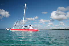 Yacth, Boat in Ocean Royalty Free Stock Photo