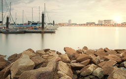 Yacth Marina Bay Rocky River Royalty Free Stock Photos