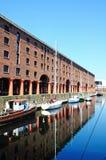 Yacts at Albert Dock, Liverpool. Stock Photo