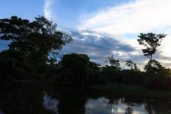 Yacuma river. Boat Crossing the Amazon. Royalty Free Stock Photos