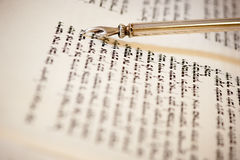 Yad on torah Stock Image