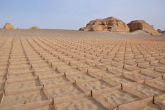 Yadan Geological Park, Dunhuang, China Royalty Free Stock Photography