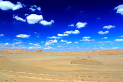 The Yadan landforms and Desert scenery in Tibetan Plateau.  Royalty Free Stock Photography