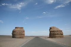 Yadan Landforms Dunhuang-Porzellan lizenzfreie stockfotos