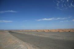 Yadan landforms i den Gobi öknen Dunhuang Kina Royaltyfri Foto