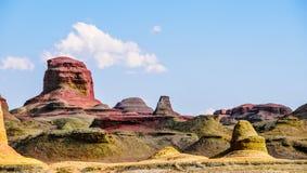 Yadan Landforms - jäkelstaden i xinjiang royaltyfria foton
