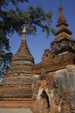 Yadana Hsemee Pagoda. Inwa (Ava), Myanmar (Burma). Yadana Hsemee Pagoda (ruins after an earthquake). Inwa (Ava), Myanmar (Burma Royalty Free Stock Photos