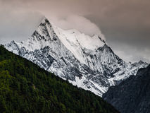 Yading. Mt. Chenresig in Yading nature reserve (Sichuan, China Stock Images