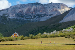 Yading scenery. The early autumn landscape of Yading in Daocheng, Sichuan, China Stock Photo