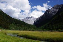 YaDing YangMaiYong peak. Hallowed mountains Stock Photography
