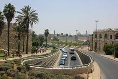 Yaffo街道在耶路撒冷 库存图片