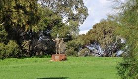 Yagan Statue: Heirisson Island, Perth Stock Photo