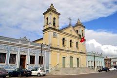 Yaguaron镇的教会 免版税图库摄影