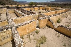 Yagul zapotec ruïnes in Oaxaca Mexico royalty-vrije stock afbeelding