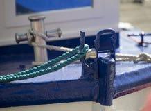 Yahct sailboat bow detail image Royalty Free Stock Photography