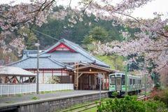 Yahiko Station in Yahiko, Niigata, Japan. Stock Image