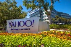 Yahoo размещает штаб Sunnyvale Стоковые Изображения