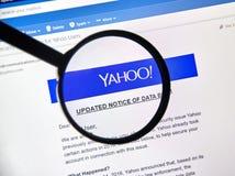 Yahoo aktualizował zawiadomienie niedawno odkrywający dane pogwałcenie Zdjęcie Stock
