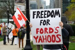 Free Yahoo At End The Shutdown Anti-COVID-19 Protest In Toronto Stock Images - 181790764