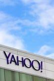 Yahoo Corporate Headquarters Sign image stock