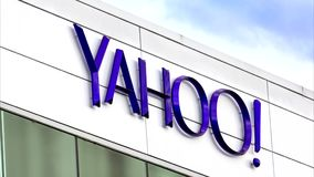 Yahoo Corporate Headquarters Sign stock video