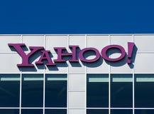 Yahoo Corporate Sign Fotografía de archivo libre de regalías