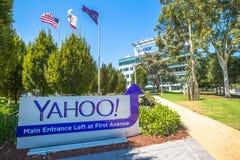 Yahoo flaga Sunnyvale Zdjęcia Royalty Free