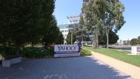 Yahoo Headquarters California stock footage