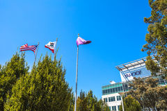 Yahoo Headquarters Flag Royalty-vrije Stock Foto's