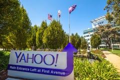 Yahoo Headquarters Main Entrance stockbilder