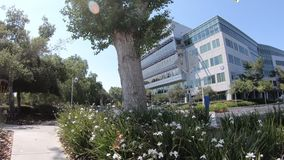 Yahoo Headquarters Silicon Valley stock footage