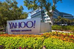 Yahoo Headquarters Sunnyvale. Sunnyvale, CA, United States - August 15, 2016: Yahoo icon outside Yahoo Headquarters.Yahoo Inc. is a multinational technology stock images