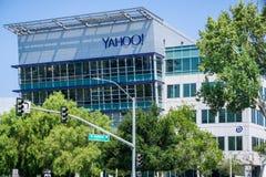 Yahoo-hoofdkwartier in Silicon Valley royalty-vrije stock foto