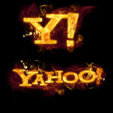 Yahoo Logo on Fire Stock Photo
