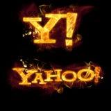 Yahoo Logo no fogo ilustração do vetor
