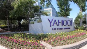 Yahoo Sign Sunnyvale stock video footage