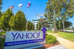 Yahoo Sign Sunnyvale fotos de stock