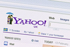 Yahoo website Stock Photos